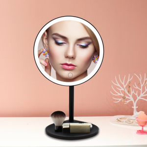 Large Size Table LED Makeup Mirror Rechargeable Beauty Mirror with lights