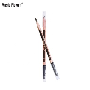 Private Label Makeup High Quality Cosmetic Lasting Waterproof Wholesale 12 PCS Eye Pen With Brush Double End Wood Eyebrow Pencil