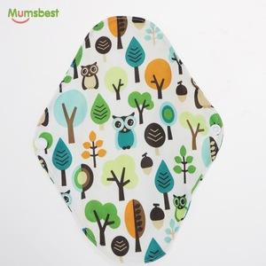 Reusable natural bamboo cotton biodegradable women sanitary pads