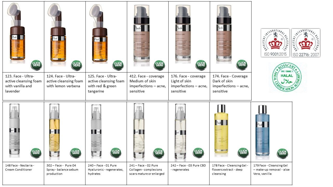 6. Face skin care – large variety for all skin types