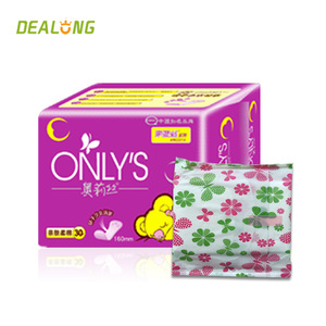 155 160 180 190 female panty liners manufacturer in China