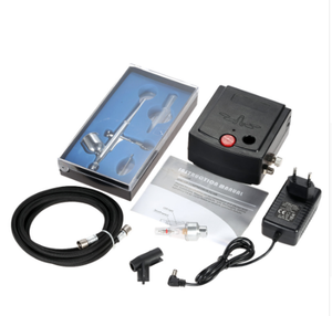Dual Action Airbrush Air Compressor Kit aerografo for Art Painting Tattoo Manicure Craft Cake Spray Model Air Brush Nail ToolSet