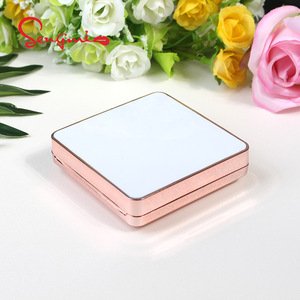 Fashion Face Powder Packaging Empty Square Air Cushion Compact Powder Case
