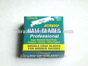 Half razor blade for barber store
