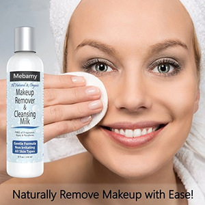 Private Label All Natural, Soothing, Gentle Formula Great for All Skin Types Makeup Remover and Cleansing Milk