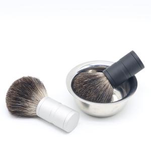 Shaving brush Material Personalized Pure Badger hair Mens shaving Barber Brushes with Metal handle