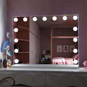 Table vanity hollywood led lighted dressing room mirror 15pcs bulbs