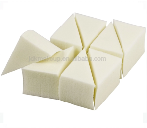 White Latex Free Makeup Wedges Sponge triangle Cosmetic  Make Up puff 8pcs pack