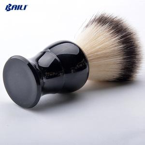 Wholesale high-quality Badger Hair shaving Brush with Black Plastic Handle