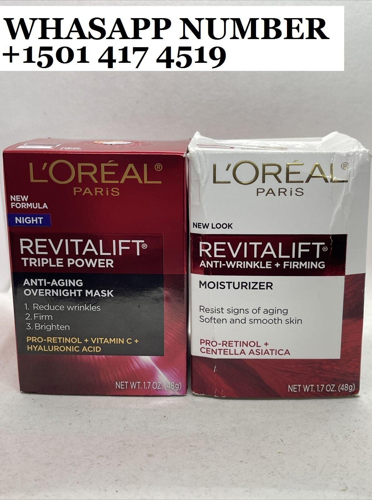 L'Oreal Paris Revitalift Triple Power Anti-Aging Overnight Mask 1.7oz+ Day Cream