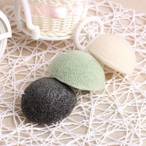 Amazon Best Seller High Quality Organic Green Konjac Sponge Customized Package Face Clean Sponge Soft Dry Konjac Sponge
