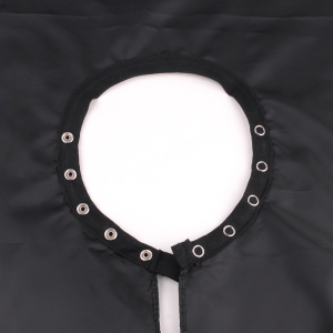 Black salon cape hair cutting barber cape with buttons