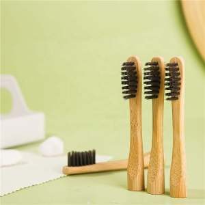 Free Sample Eco Friendly Tooth Brush Heads Small Biodegradable Charcoal Bamboo Toothbrush Head