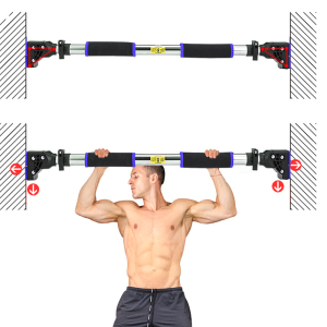 Home gym equipment Adjustable Fitness Gym Heavy Duty No Screws Adjustable Doorway Pull Up Bar Chin Up Horizontal Bar Grips