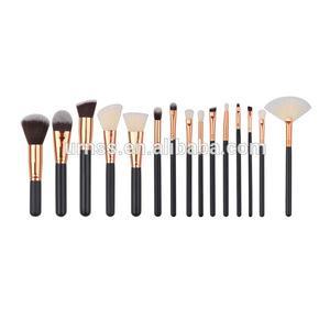 Hot Sale Fashion 15pcs Makeup Brush Set Cosmetic Make Up Tools Kit Womans Toiletry Kit with bag