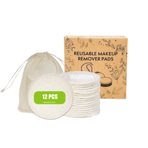 New Arrival organic reusable makeup remover pads with jade roller