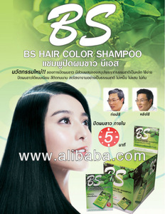 Super Natural Hair Color Shampoo - made from Noni fruit, Butterfly Pea Flower, Ginseng and Bergamot fruit.