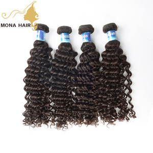 Wholesale Unprocessed Raw Virgin Cuticle Aligned Brazilian Human Hair extension from Mona