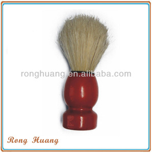 Wooden shaving brush with stand