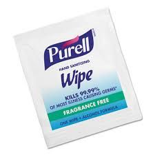 ECI Hand sanitizer wipes