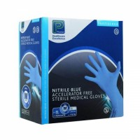Premier Sterile Blue Nitrile Powder Free Gloves (50 pairs) Wholesale