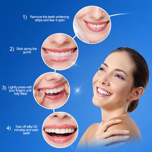 3D White Gel Teeth Whitening Strips Oral Hygiene Care Double Elastic Teeth Strips Whitening Dental Bleaching Kits 14 Pouches/Pac