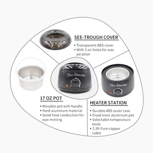 Best Selling Products 2018 In Customize Private Label 500CC Electric Wax Melter Pot Pro-Wax 100 Wax Heater Black
