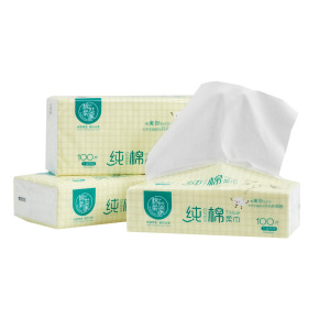 Free chemical 100% cotton fabric adult baby dry facial tissue manufacturer