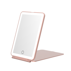 iPad Mini Makeup mirror with light 1000mah built in battery Portable travel make up mirror led