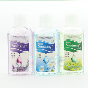 Mini antibacterial hand washing gel without water could be interesting for us