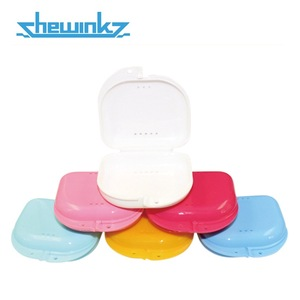 New Product Colorful Brilliant Dental Retainer Case Denture Box with Holes