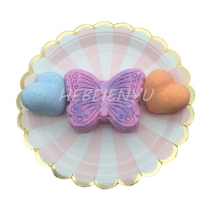 Unique shaped bath bombs heart butterfly bath fizzies for kids own design
