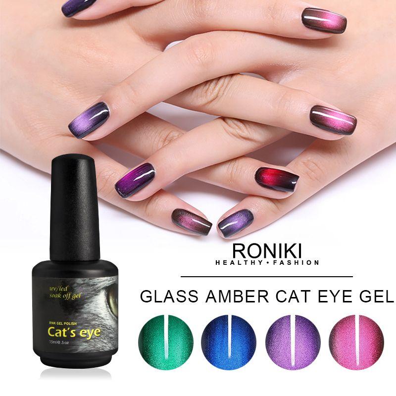 RONIKI Amber Cat Eye Gel Polish,Cat Eye Gel,Led Cat Eye Gel
