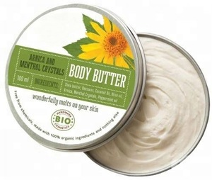 Body Butter Arnica & Menthol - 100 ml. 100% Certified Organic Ingredients. Private Label Available. Made In EU