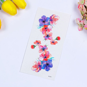 Customized Colorful Flower Non-toxic Temporary Body Art Tattoo Stickers
