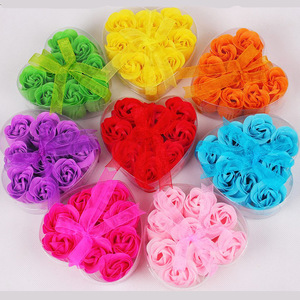 Heart-shaped Box Bathing Soap,Top Quality Flower Bath Soap