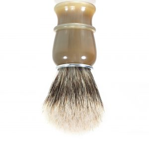 Hot selling real horn handle synthetic hair shaving brush with horn handle
