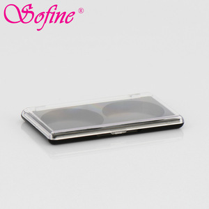 make up plastic double empty compact powder case