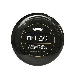 OEM Private Label 100% Natural Sandalwood  Scent 150g Beard Removal Shaving Soap Cream For Men Beard Grooming Care