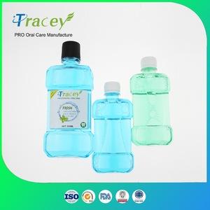 OEM Wholesale price bulk Fresh mint flavor antiseptic private label mouthwash LIQUID