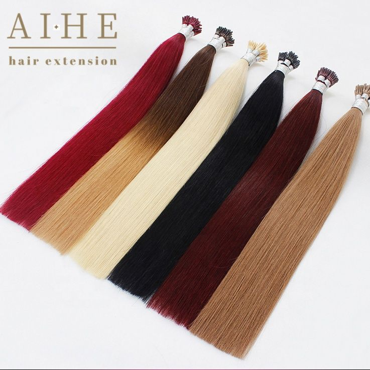 Hot selling High quality raw human remy i tip hair extension