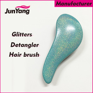 2018 new wholesale bling glitters mini detangler hair brush