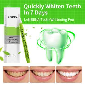 2021 hottest selling lanbena teeth whitening kit oral care teeth whitening serum teeth whitening pen lemon flavor
