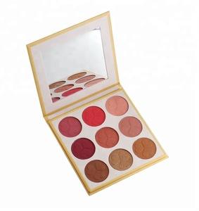 9 Color Wholesale Make Up Powder Private Label Blush Palette Packaging