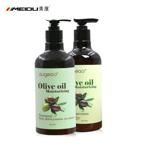 China meidu wholesale manufacture  private label oliver oil best sulfate free natural hair shampoo and conditioner