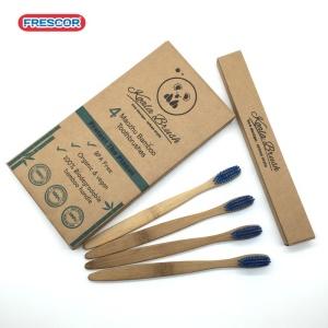 Custom Logo Color Wholesale Natural Bamboo Toothbrush