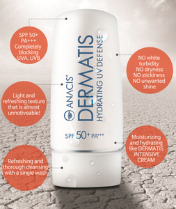 Dermatis Sun Block SPF50+ PA+++ 70ml, Sun Fluid Spectrum for Optimal Sunscreen Water Proof Sun Cream