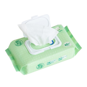 Hotsale disposable cleaning face wipe OEM alcohol free wet tissue ...