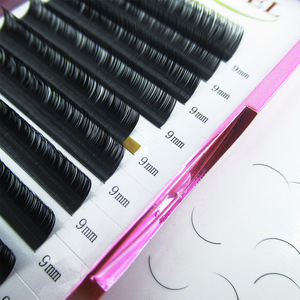 Silk Synthetic Korean Fiber D Curl Individual Lashes, Eyelash
