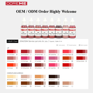 TATTO INK / OEM / ODM Micro Semi Permanent Makeup Pigment of eyeliner / Tattoo Ink / DOREME